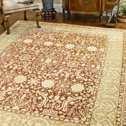 "Safavieh Handmade Silk Road Majestic Maroon N.Z. Wool Area Rug (7'6"" x 9'6"")"