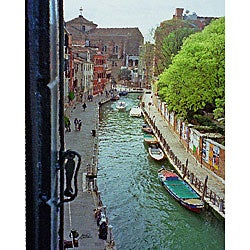Stewart Parr 'Venice, Italy - canal from hotel window' Unframed Photo Print