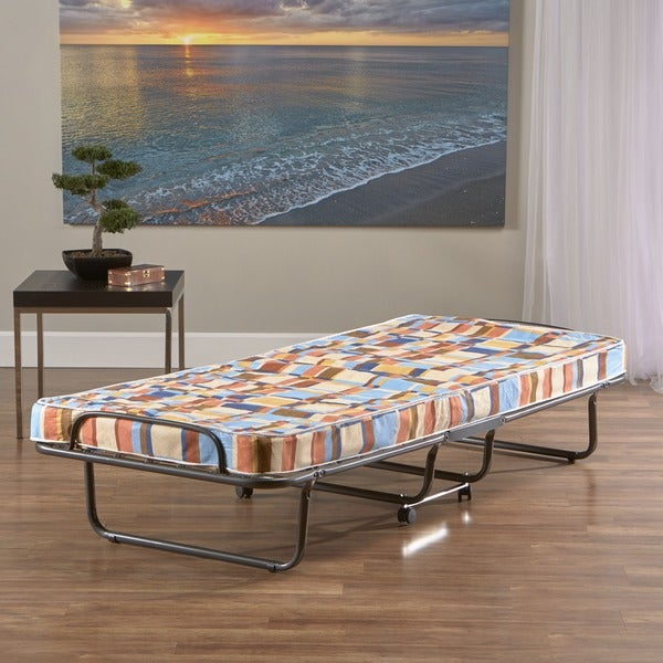Innerspace Torino Roll Away Folding Guest Bed With Grey Cover