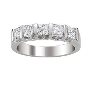 14k Gold 1 1/2ct TDW Princess-cut Diamond Band (H-I, I1-I2)