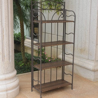 International Caravan Valencia 4-tier 24-inch Wide Plant Shelf
