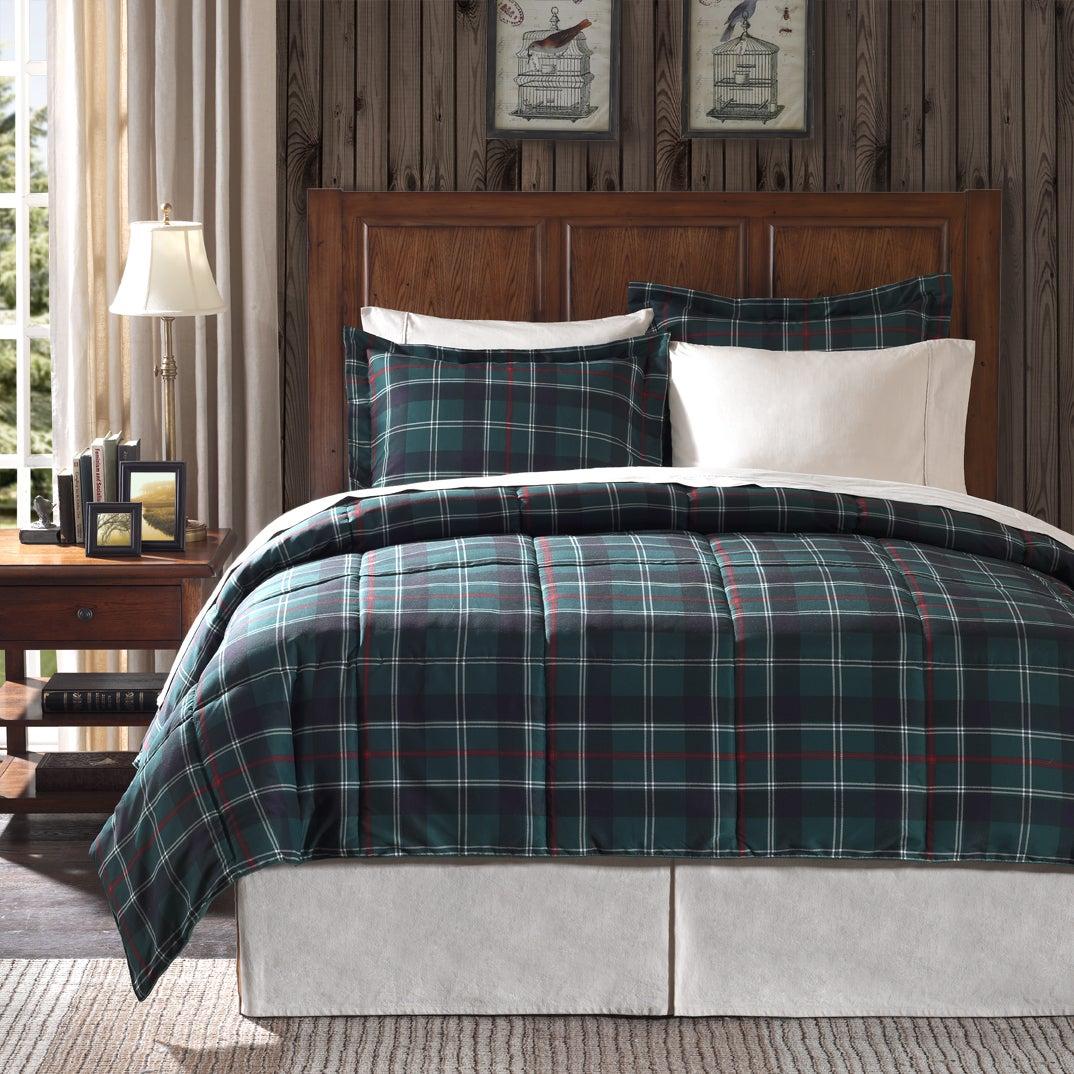 Premier Comfort Franklin Plaid Twin-size 2-piece Down Alternative Comforter Set