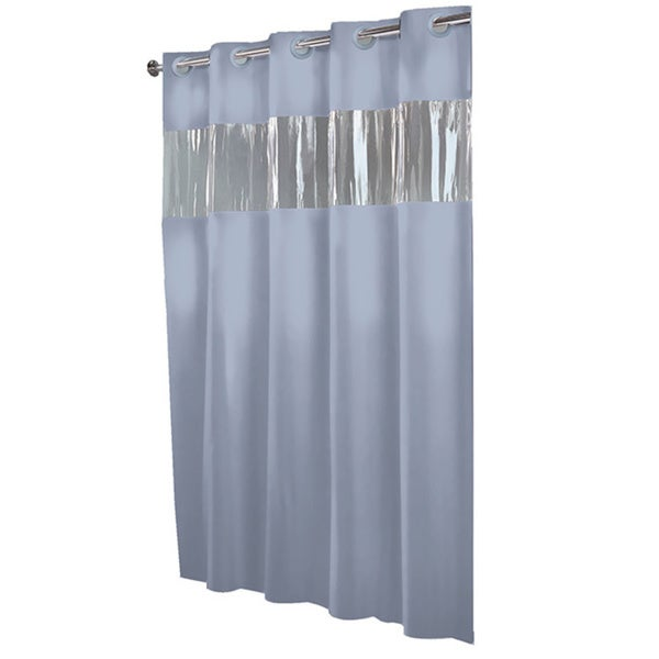 Hookless Blue Peva Shower Curtain Overstock Shopping Great Deals On Shower Curtains