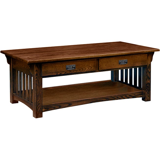 Solid Oak Sienna Two Drawer Coffee Table Overstock Shopping Great Deals On Kd Furnishings