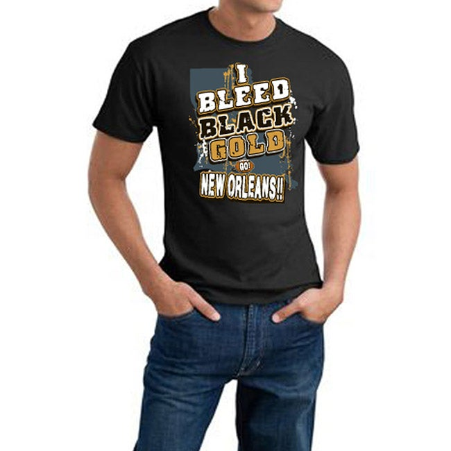 New Orleans Football 'I Bleed Black & Gold' Cotton Tee