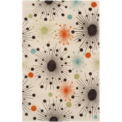 Safavieh Handmade Cosmos Ivory New Zealand Wool Rug (7'6 x 9'6)