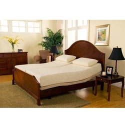 Sleep Zone Premium Adjustable Bed and 8-inch Split King-size Memory Foam Mattress Set