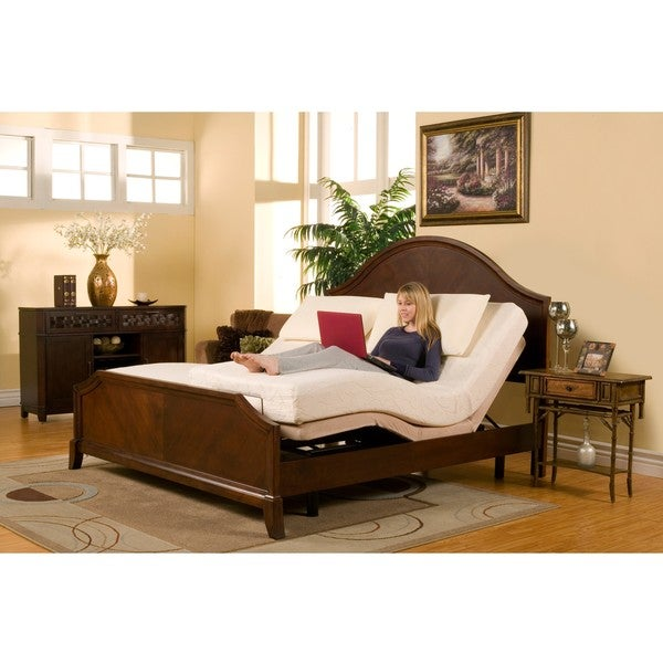 Sleep Zone Deluxe Adjustable Bed 8-inch Split King-size Memory Foam Mattress Set