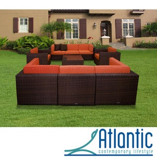 Messina Orange 9-piece Sectional Set
