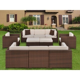 Atlantic Messina Deluxe 9-piece Sectional Set with Sunbrella
