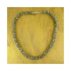 'Sensuous' Labradorite Beaded Necklace (India)
