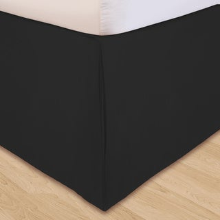 Grand Luxe 'Hike Up Your Skirt' Microfiber Adjustable 17-inch Drop Queen-size Bedskirt