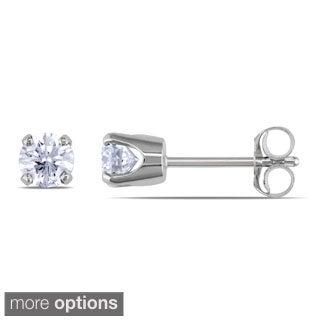 Miadora 14k Gold 1/2ct TDW Diamond Solitaire Earrings (J-K, I2-I3)