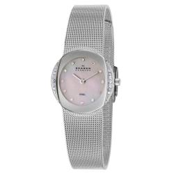 Skagen Women's 'Mesh' Stainless Steel Crystals Quartz Watch