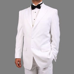Ferrecci Men's White Three Piece Tuxedo