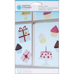 Martha Stewart Modern Festive Window Clings (Pack of 12)