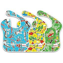 Bumkins Dr. Seuss Waterproof SuperBibs (Pack of 3)