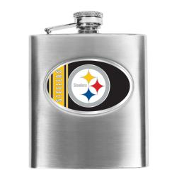 Pittsburgh Steelers 8-oz Stainless Steel Hip Flask