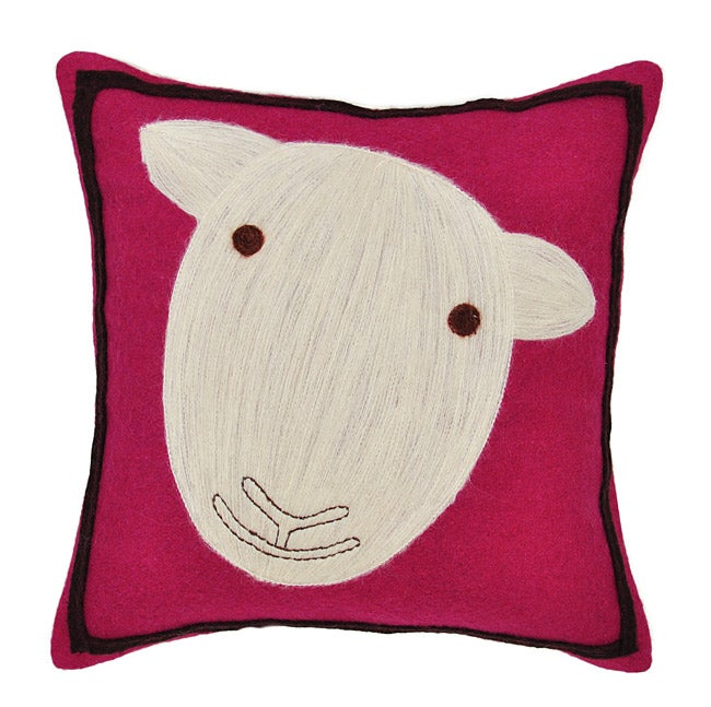 Throw Pillows On Konga : Pink Sheep Wool Decorative Pillow - Overstock Shopping - Great Deals on Cottage Home Throw Pillows