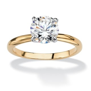 PalmBeach CZ Two-tone Cubic Zirconia Engagement-style Ring Classic CZ