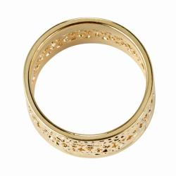 PalmBeach 14k Gold-plated Open-weave Band Ring Tailored