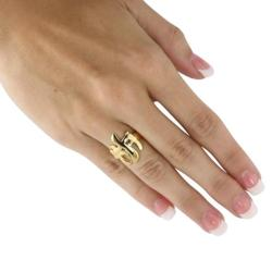 PalmBeach 18k Gold-Plated Triple Cross Ring Tailored