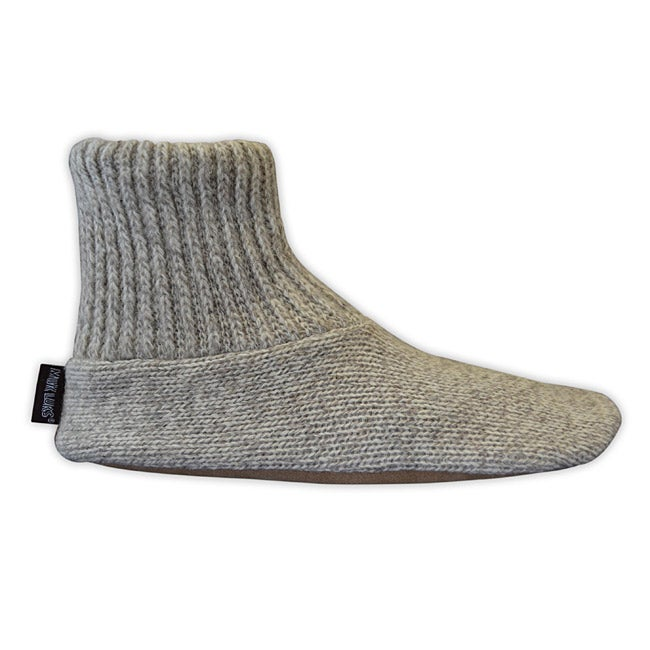 Muk Luks Men's Hand-Washable Ragg Wool Slipper Socks