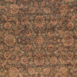 Asian Hand-knotted Royal Kerman Grey Wool Rug (4' x 6')