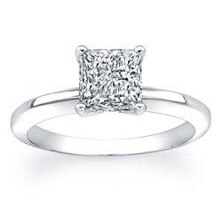 14k Gold 2ct TDW Certified Princess Cut Clarity Enhanced Diamond Ring (GH, SI2-SI3)