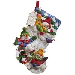 Bucilla Snow Fun Felt Stocking Decoration Applique Craft Kit