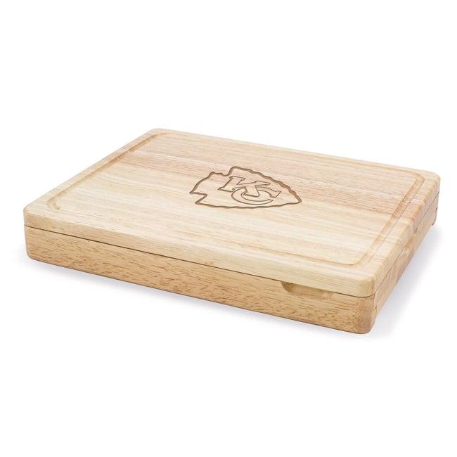 Picnic Time Kansas City Chiefs Asiago Folding Cheese Knife Set