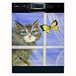 Appliance Art ' Playful Kitten' Dishwasher Cover