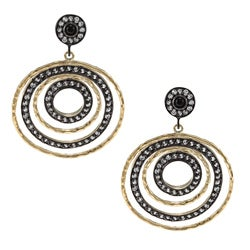 Rivka Friedman Esha 18k Gold Overlay Multi-circle CZ Earrings