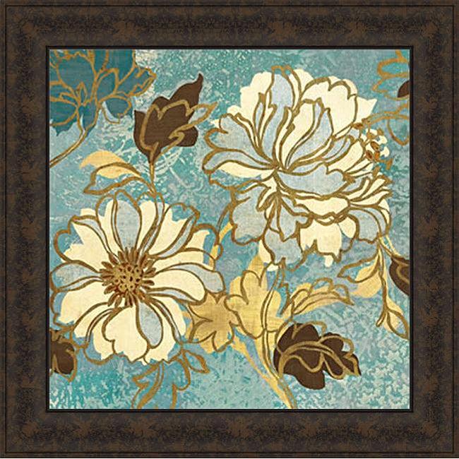 Wild Apple 'Sophias Flowers I - Blue' Framed Print Art