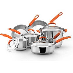 Rachael Ray Stainless Steel II 10-piece Cookware Set **With $20 Mail-in Rebate**