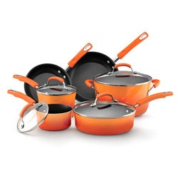 Rachael Ray Orange Porcelain II Nonstick 10-piece Cookware Set **with $20 Mail-in Rebate**