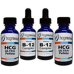 HCG Ultra Alternative Pellets 43-day Program Couples Kit with Vitamin B12