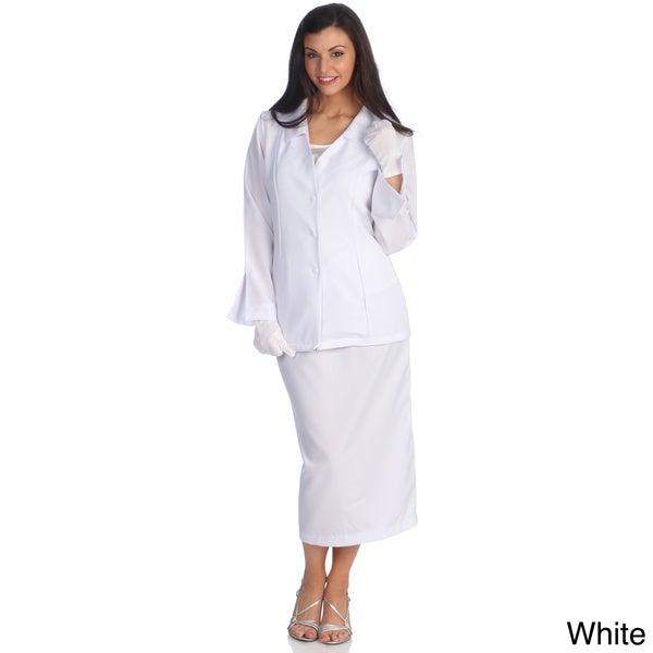 Divine Apparel Women's Classic Fashion Skirt Suit
