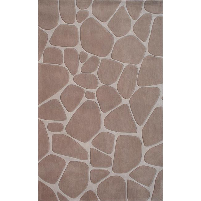 nuLOOM Handmade Pino Masonry Rock Abstract Rug (5' x 8')