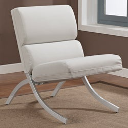 Rialto Bonded Leather White Chair