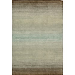 Nourison Casual Hand-tufted Contours Natural Rug (8' x 10'6)