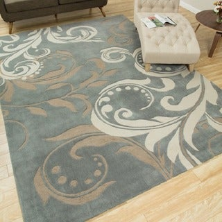Hand-tufted Silver Cosmopolitan Rug (7&#39;3 x 9&#39;3)