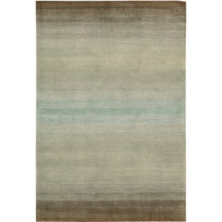 Nourison Hand-tufted Contours Natural Area Rug (7'3 x 9'3)