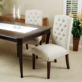 Christopher Knight Home Crown Top Ivory Linen Dining Chair (Set of 2)