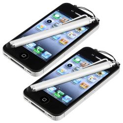 INSTEN Silver Touch Screen Stylus for Apple iPhone/ iPod/ iPad (Pack of 2)