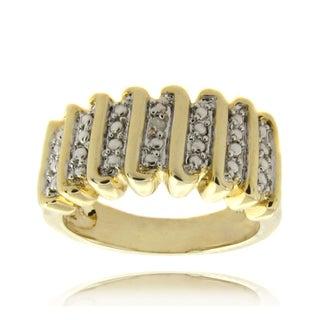 Finesque 14k Gold Overlay Diamond Accent 'S' Design Ring