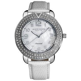 Akribos XXIV Men's Swiss Quartz Diamond Mother of Pearl Watch