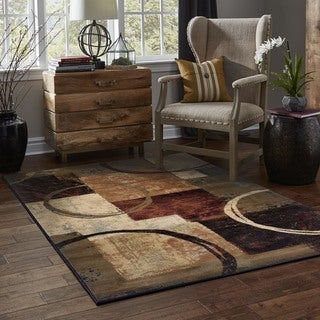 Brown/Black Area Rug (6'7 x 9'6)