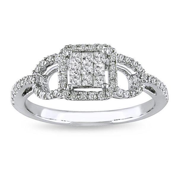 Miadora 10k White Gold 3/8ct TDW Diamond Ring (G-H, I2-I3)