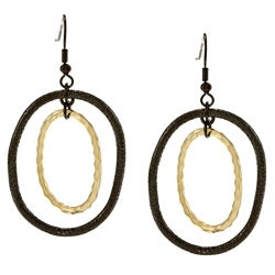 Kate Bissett Goldtone and Hematite Dangle Earrings